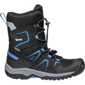 Keen Junior Levo WP Winter Shoes black/baleine blue